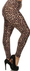 Cheetah Print Plus Size Leggings One Size